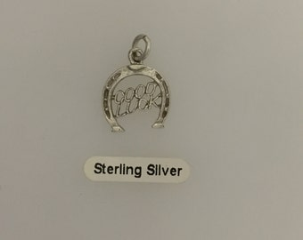 Sterling Silver Good Luck Horseshoe Charm
