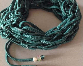 Handmade knitted seagreen scarf