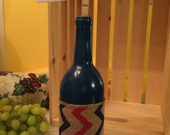 Wine Bottle Recipe Holder