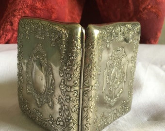 Silver plated french vintage case or box