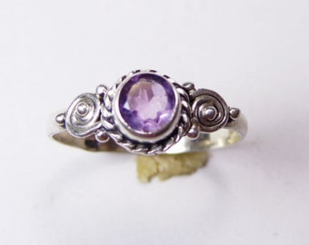 Magestic Amethyst  925 Sterling Silver Ring Purple Casajewels R325
