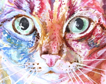 Custom Pet Portrait - Pet Portrait, Original Watercolour Painting, Original Watercolour, Animal Art, Animal Illustration