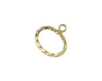 Designer Oval Toggle Clasp - Gold Filled (#6087)