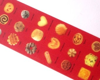 Sweets washi tape, Wide masking tape, Japanese stationery, Cooking recipe, Sweets red wide tape, Hobonichi, Gift wrapping, mt confectionery