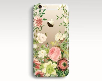 iPhone 7 Plus Case, Floral iPhone 6s Case, Clear Rubber iPhone 5s Case, iPhone 7 Case, iPhone 6s Plus, Transparent iPhone 6 Case, iPhone SE