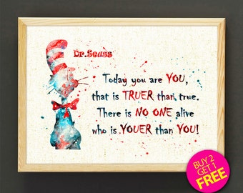 Dr Seuss Weird Love Quote Poster Glamorous We're All A Little Weird Quote Poster Print Drseuss
