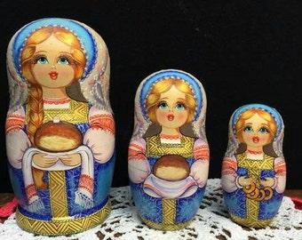 The Original Russian made Nesting Dolls or Matryoshka Doll