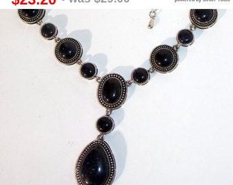 aventurine Necklace, dark blue  Necklace, Handmade necklace. natural stones, aventurin, aventurine  in metal