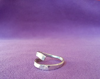 Silver ring Wabi Sabi 2 turns