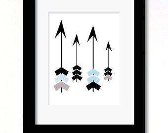 A4 girl or boys arrows print