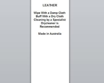 Leather | Satin Clothing Labels (WP043)