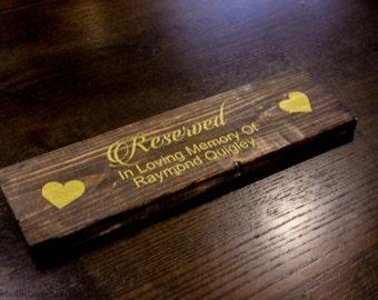 Wedding Reserved Sign. Reserved Ceremony Sign.  Wedding Reserved Chair Sign. Ceremony Reserved Sign. Ceremony Signs.  Vintage Reserved Sign.