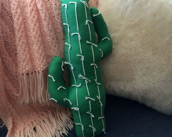 Bright Green Cactus Pillow