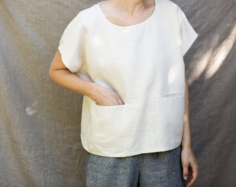 Handmade Linen One Sized Pocket Top