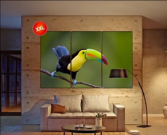 Toucan  print  on canvas wall art Keel Billed Toucan photo art work framed art artwork