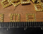 Old Factory Stock, 500 Gold Tone Metal Buckles, Supplies, Accessories, Doll, Glove