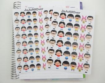 Kawaii Family Inspired Die Cut Stickers