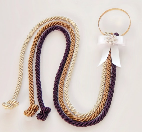 Cord of three strands wedding knot cords marriage braid unity cord