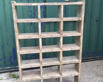Industrial Up-Cycled Pigeon Hole Shoe rack / shelving Unit