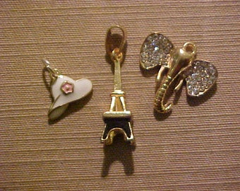 Collection of three Neat Small Pendant Charms, FREE SHIPPING