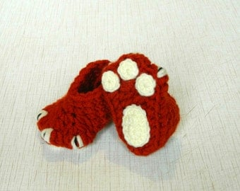 Crochet baby booties Animal baby shoes Baby Toddler fox slippers Fox Baby Shower Gift for Baby shoes Animal booties Pregnancy Announcement