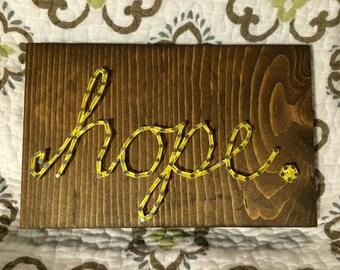 CUSTOM Single-Word String Art (2-10 letters), love, hope, joy, one little word