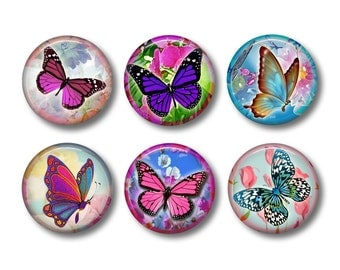 Butterfly Magnets, Butterfly Gift, Butterflies, Fridge Magnet, Refrigerator Magnets, Magnet Set