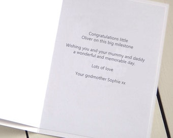 Add A Personalised Message Inside Your Milly And Pip Card - Card Sent Direct - Printed Message Inside Card - Personalised Greetings Card