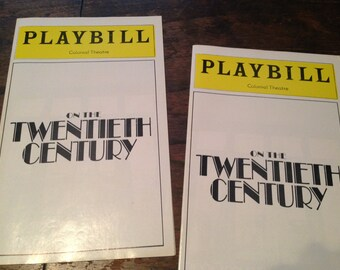 Playbill:  On the TWENTIETH CENTURY (2).  Colonial Theatre 1978