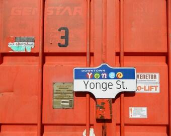 Toronto Street Sign - Yonge St.