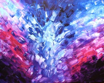 Meeting In The Middle Abstract Painting