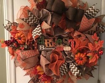 Harvest Blessing Wreath