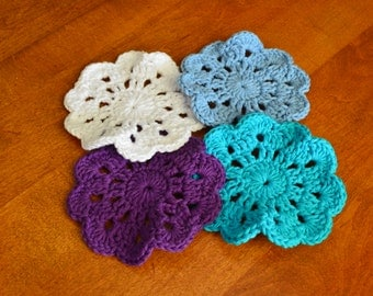 100% Cotton Crocheted Coasters
