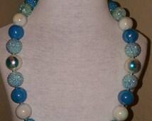 Frozen Elsa chunky bubblegum bead necklace