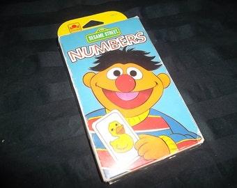Vintage Sesame Street Numbers Flash Cards, Full Set of 30, 1993