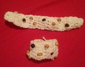 Headband with matching bracelet