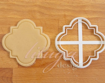Plaque cookie cutter, Vintage frame cookie cutter (No.3) -  can be personalised