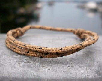 Surfer bracelet, Brown 2.5 mm tarn, delicate Ribbon for small wrists, sailors surfer bracelet, climbing cord rope rope knots, nautical