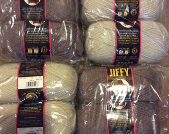 Lion Brand Loch Lomand Kit w/12 Skeins of Jiffy Yarn, brand new and unopened!