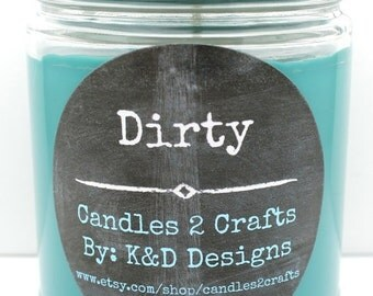 SALE Scented Soy Candle Lush dupe Dirty scented candle 9oz jar