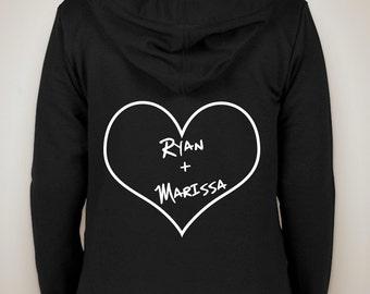 "The OC ""Ryan + Marissa"" Zip-Up Hoodie Sweatshirt"