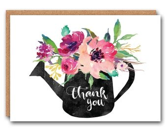 Floral Thank You Card - Thank you cards
