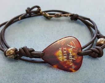 Guitar Pick Bracelet - Music Bracelet - Guitar Pick Jewelry - Musician Bracelet