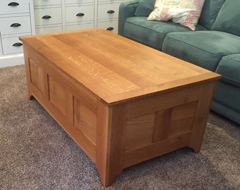 Quarter Sawn White Oak Coffee Table/Chest