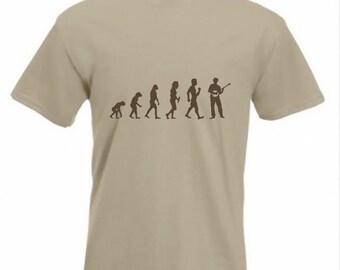 Evolution To Banjo t-shirt Funny Banjo Player T-shirt sizes Sm TO 2XXL
