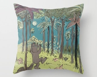 where the wild things are.. max's jungle throw pillow with insert