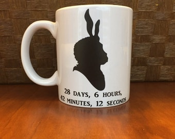 Donnie Darko mug!  *Coffee mug, coffee cup, funny coffee mug, funny coffee cup, gift, personalized mugs, coffee  Perfect Gift!