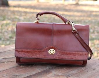 Vintage Brown Handbag , Women Shoulder Bag
