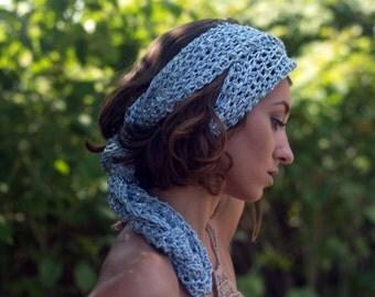 Summer crochet scarf
