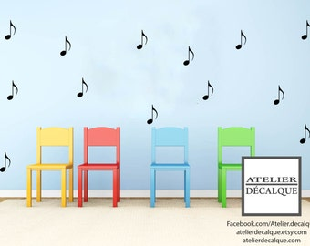 Wall decal no. S- 022 - Musical Note - Decal